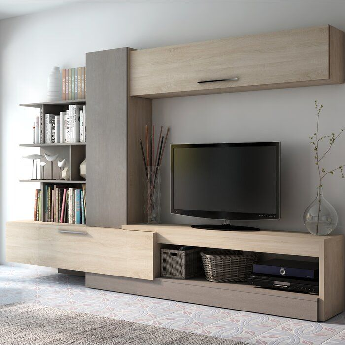 Malinowski Entertainment Center For Tvs Up To 70 In 2020 Living Room Tv Wall Tv Cabinet Design Living Room Tv