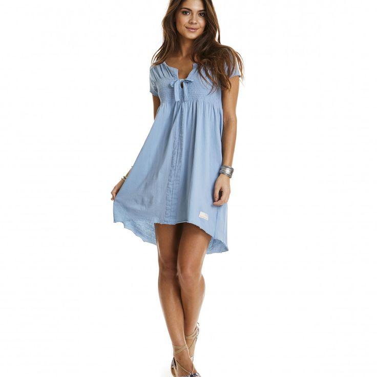 home-land dress DUSTY BLUE