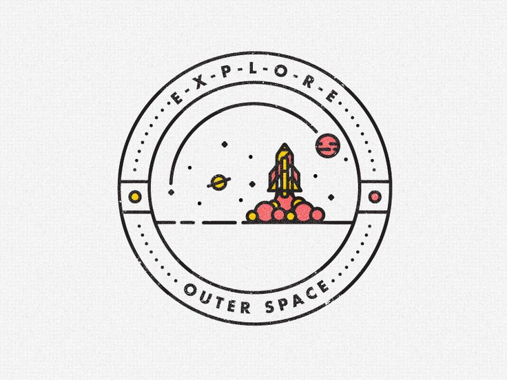 OUTER SPACE. The next installment in the E-X-P-L-O-R-E series. Updated within the badge design. View the project development here  Follow STUDIOJQ:  Behance | Twitter | Pinterest