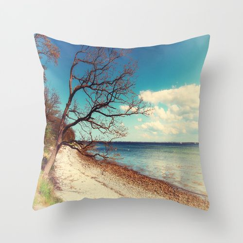 The Baltic coast Throw Pillow