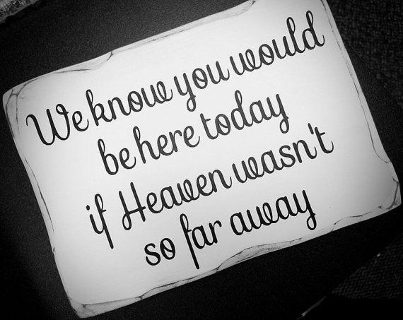Wooden Distressed Memorial Sign. Would be so special to have this sign on a table with pictures of all loved ones who will be watching over us on our day.