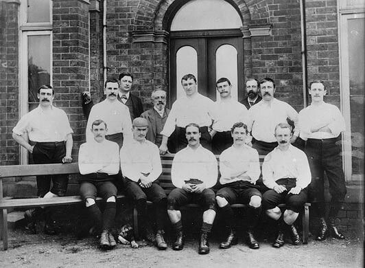 Preston North End team group in 1888-89. The Invincibles.