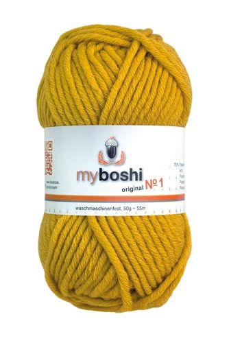myboshi No.1 112 senf  70% Polyacryl und 30% Schurwolle (Merino) 3,75 €