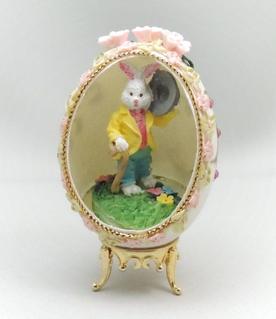 ✰※ Peter Cottontail Easter Ornament Easter #Egg with Briar Rabbit Easter Decoration http://etsy.me/2bww8uu