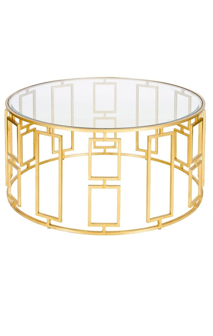 Tables Cocktail Contemporary Geometric Gold Leaf Iron Table Elegant
