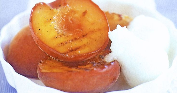 These sweet grilled peaches are a quick and easy dessert after the summer barbecue.