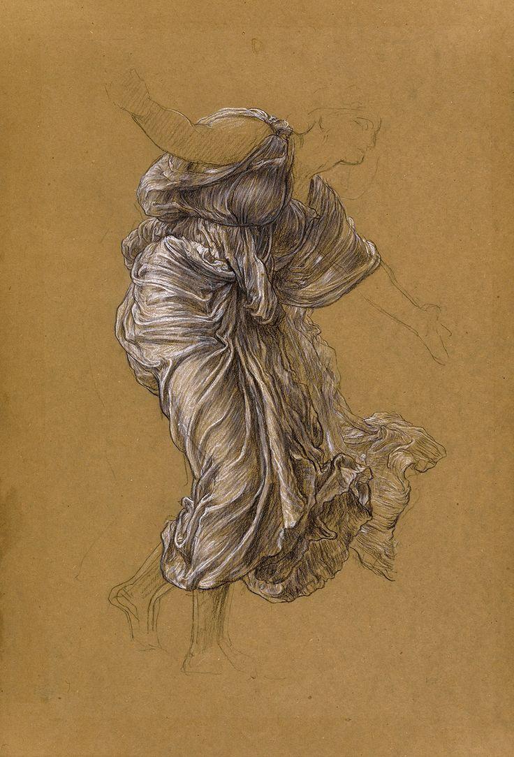 Frederic Leighton, Study for 'Return of Persephone' Drapery for Demeter, c. 1890 | Leighton House
