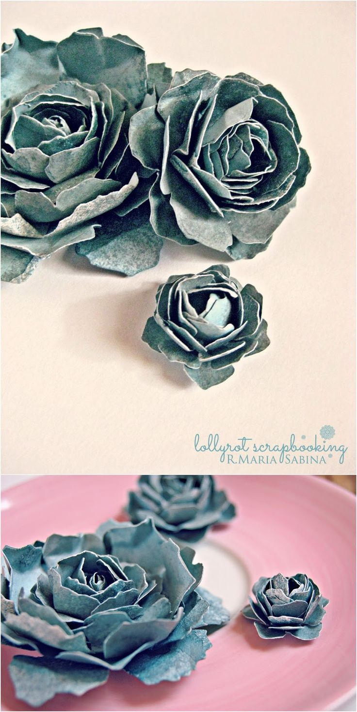 How to scrapbook flowers - How To Tattered Flowers Tutorial