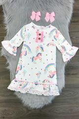 Sweet Dreams Unicorn Nightgown - 3XL- 8 years