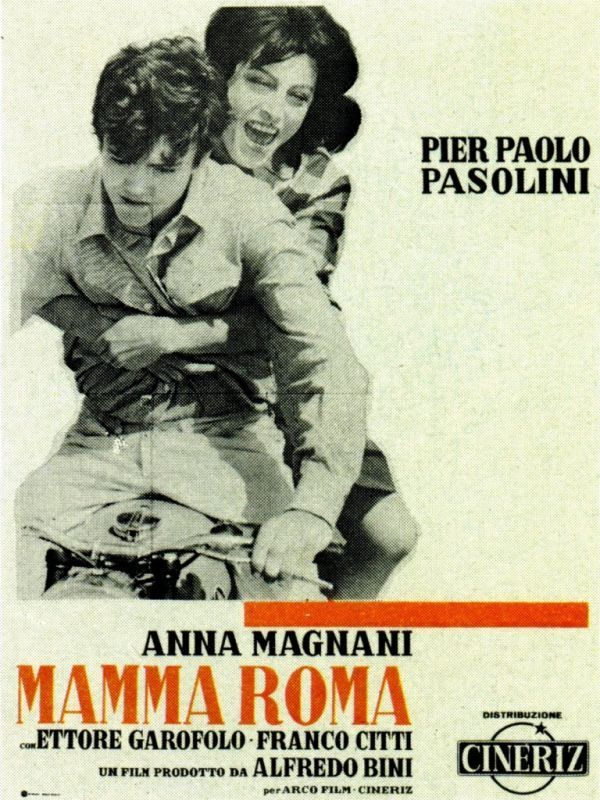 Mamma Roma. (Italy, 1962). Directed by Pier Paolo Pasolini. Mamma Roma, an ex-prostitute, tries to start a new life selling vegetables when reunited with her 16-year-old son Ettore.