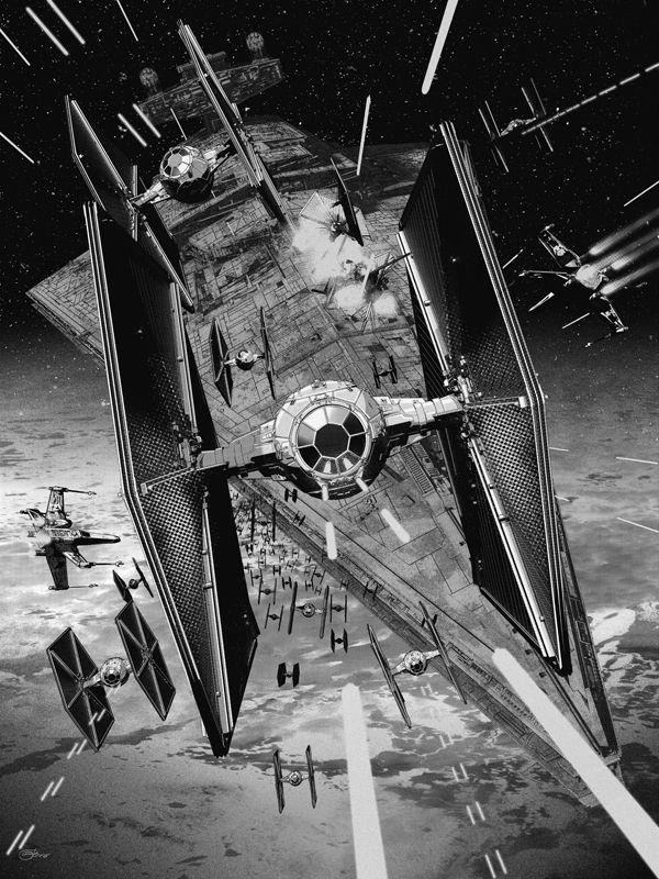 X-Wing Vs. TIE-Fighter screen prints.