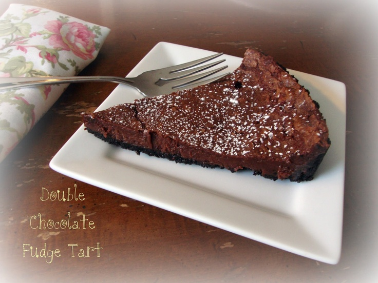 Chocolate, Chocolate and more...: Double Chocolate Fudge Tart