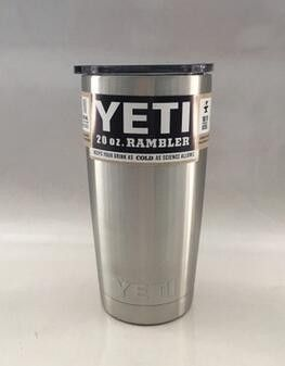 7 Colors 20oz Yeti Cup 304 Stainless Steel Yeti Rambler YETI Coolers Rambler Tumbler Double Walled Travel Mug YETI cup colster