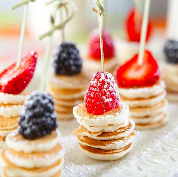 Love these mini pancake bites! Add some fresh fruit & dust with powdered sugar for the perfect brunch bites