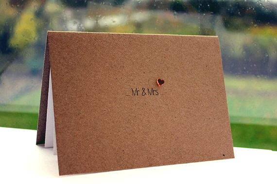 Handmade Engagement Card  //  Wedding Card  //  Anniversary Card  //  Civil Partnership Card  //  Mr & Mrs Love Heart