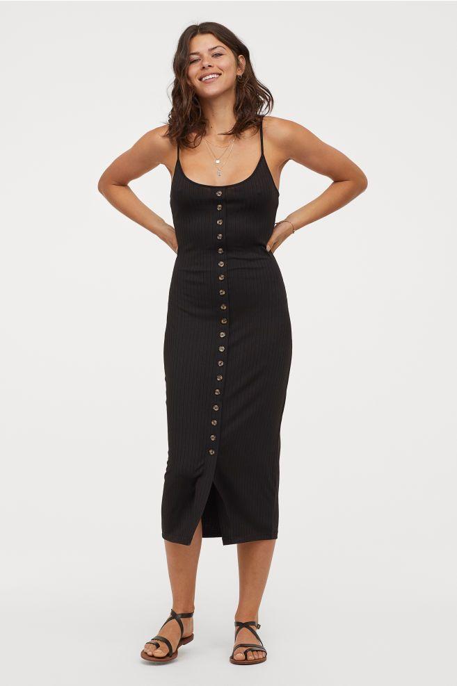 Ribbed jersey dress | Grab it at in 2019 | Calf length dress