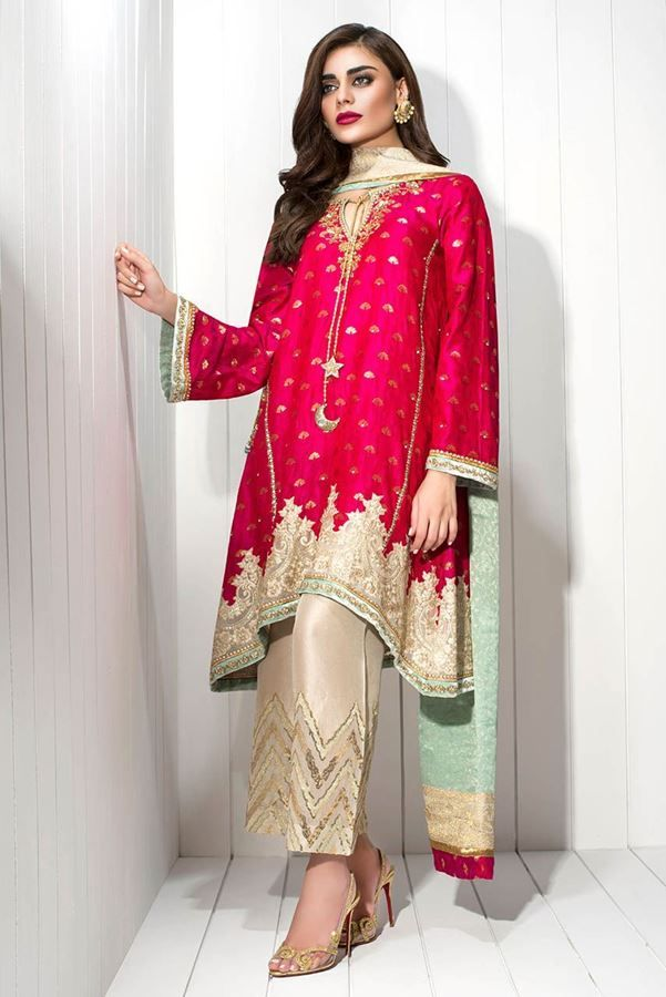Show details for Banarsi woven hand embroidered shirt