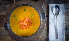 Морковно-имбирный суп на кокосовом молоке