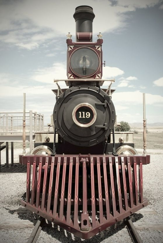 Golden Spike Utah - It commemorates the completion of the first Transcontinental Railroad where the Central Pacific Railroad and the Union Pacific Railroad met on May 10, 1869. The final joining of the rails spanning the continent was signified by the driving of the ceremonial Golden Spike.