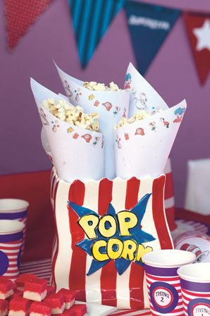 Cat in the Hat party: Popcorn is always a hit with kids.