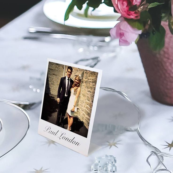 Personalised Mini Stand Up Place Setting Photo Cards