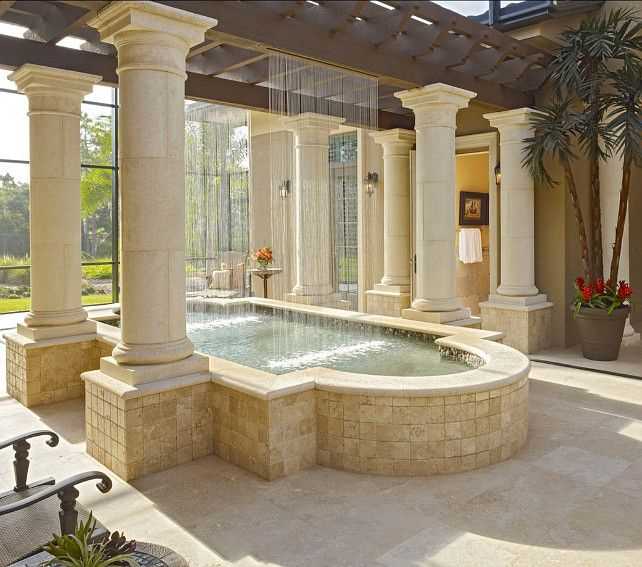 Tree Inside The House Interior Climate Controlled: 19 Best Images About Homes : Indoor Pools & Waterfalls On