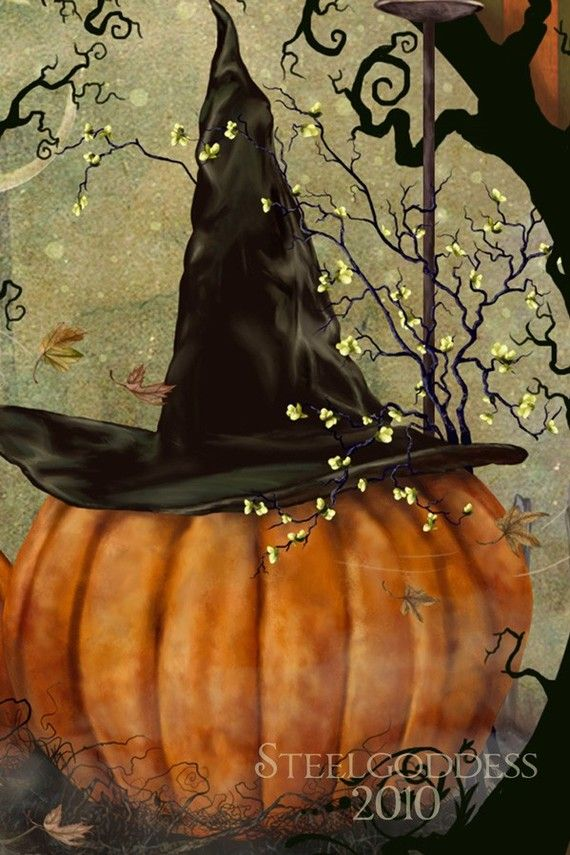 Harvest Magic WALL PRINT 8x10 by steelgoddess on Etsy