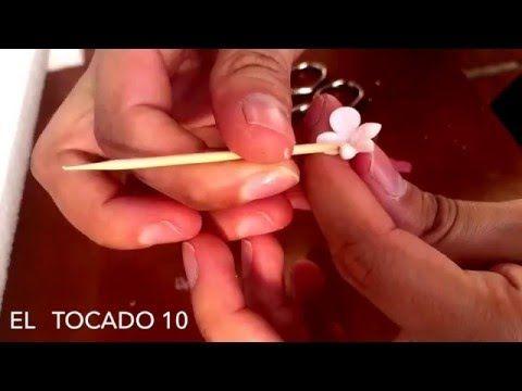 como hacer flores de porcelana - YouTube