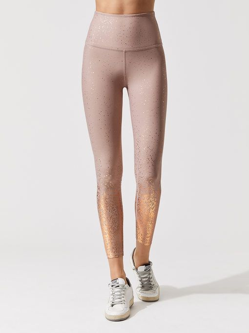 b3b0034d5ac03 BEYOND YOGA Alloy Speckled High Waisted Midi Legging Brazen blush rose gold  speckle 7/8 LENGTH LEGGINGS
