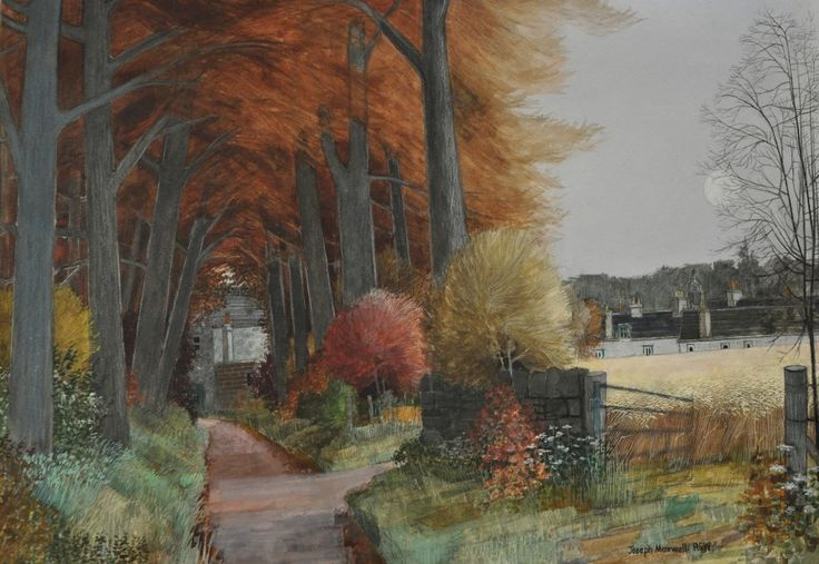 Joseph Maxwell Autumn Archway Stirlingshire c.1997. watercolour and mixed media | Scottish Contemporary Art