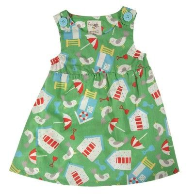 Frugi Βρεφικό Αμάνικο Φορεματάκι – Πράσινο - Sunnyside