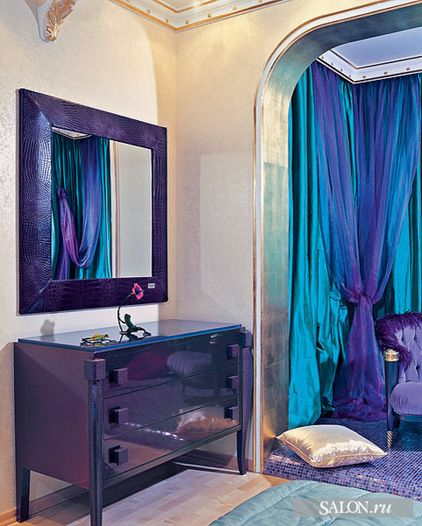 17 best images about peacock bedroom 2 on pinterest for Teal and purple living room