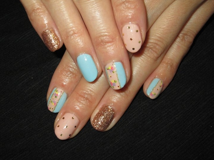 Mixed Designs Nails, Gel Nails, Flower paints, Japanese Nails, ジェルネイル、デザインミックス、フラットアート | ♥Cute Nail Design♥