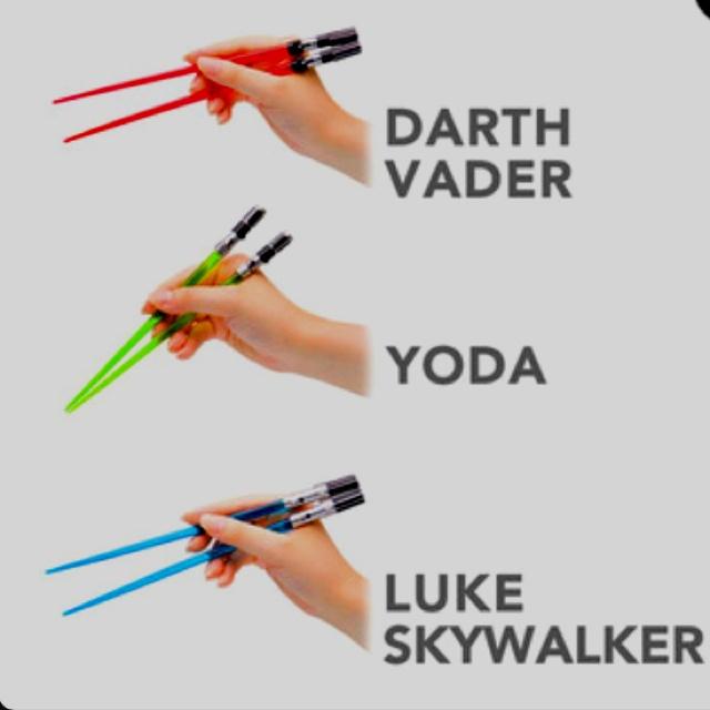"""Star Wars Lightsaber Chopsticks! """"do or do not...there is no try""""Geek, Chops Sticks, Lightsaber Chopsticks, Star Wars, Stars Wars, Wars Chopsticks, Chops Saber, Lights Saber, Starwars"""