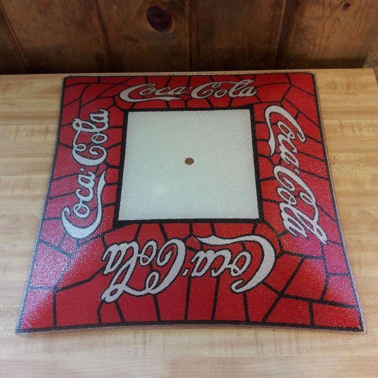Vintage Coca Cola Glass Ceiling Light Fixture From Estate Sale