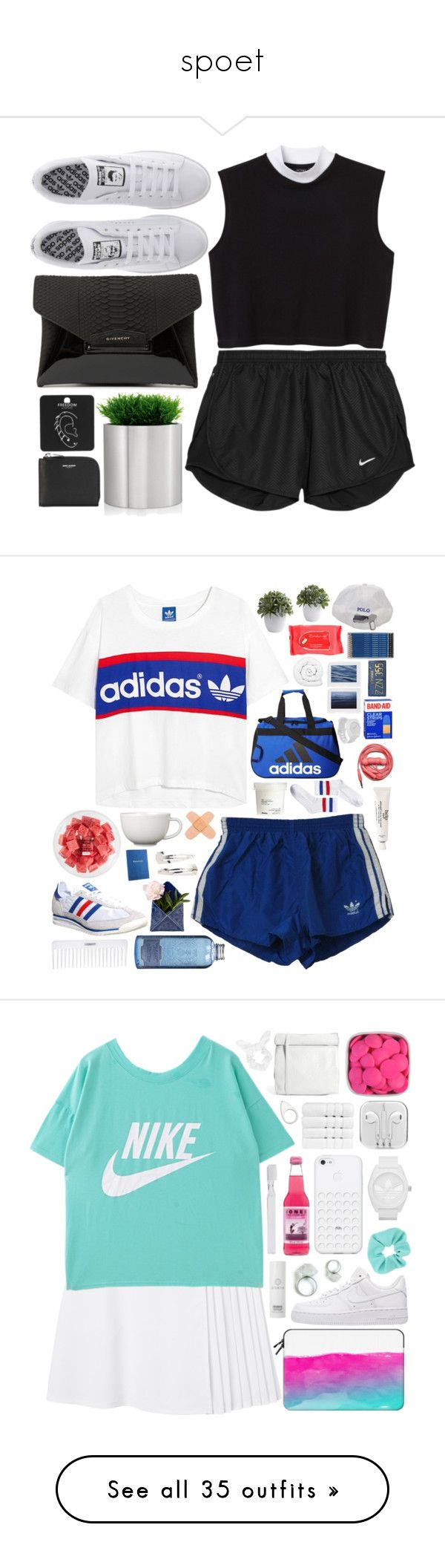 """""""spoet"""" by leilabas ❤ liked on Polyvore featuring NIKE, Monki, adidas, Givenchy, blomus, Topshop, Yves Saint Laurent, philosophy, adidas Originals and Nixon"""