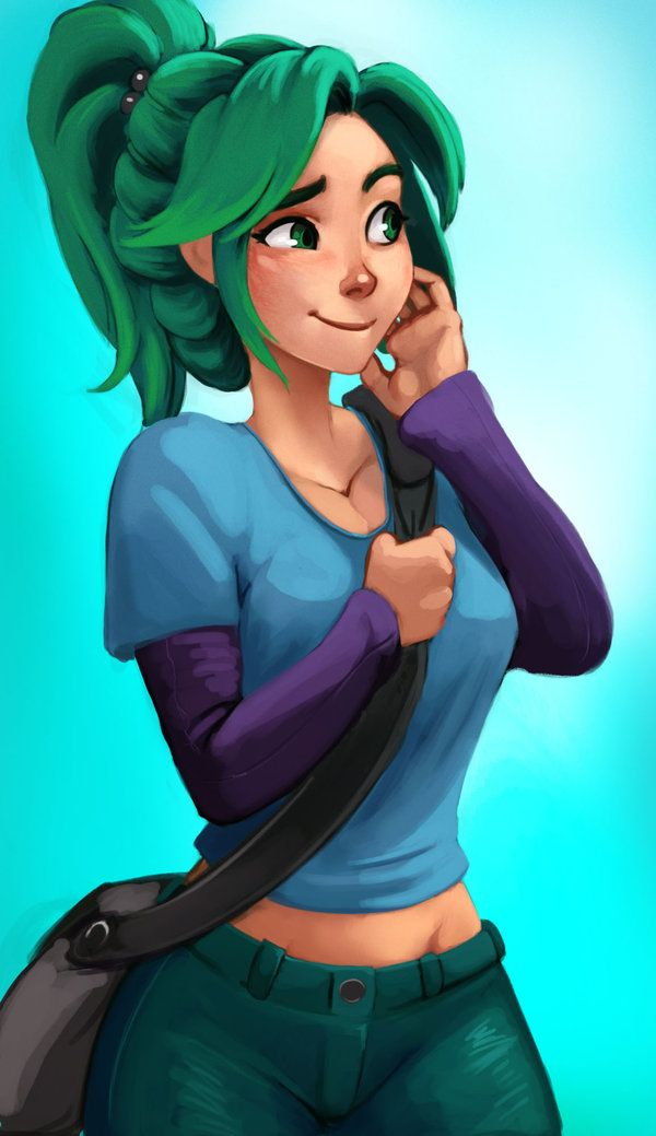 Green by Raichiyo33 on deviantART . Character Illustration Inspiration