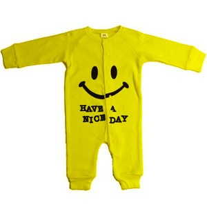 Baby Boy Loungewear - Okutani Smile Thermal Romper