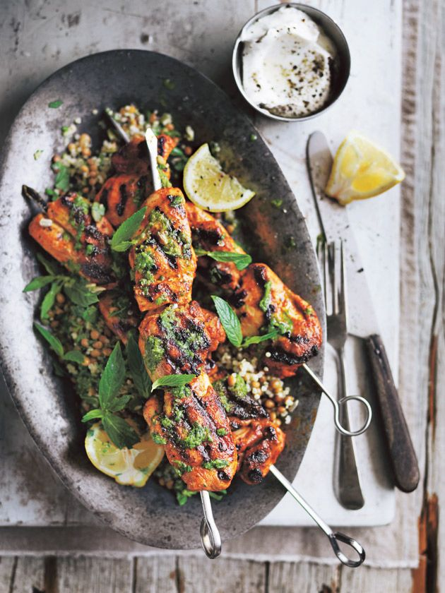 Chicken Skewers With Chimichurri And Quinoa Salad | Donna Hay