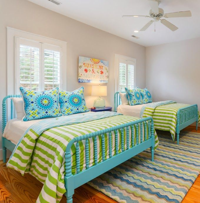 I love these beds for the guest bedroom at beach house. Painted this color.