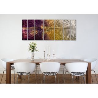 Sooo pretty. Ash Carl 'Happiness' 7-panel Abstract Metal Wall Art | Overstock.com Shopping - The Best Deals on Metal Art