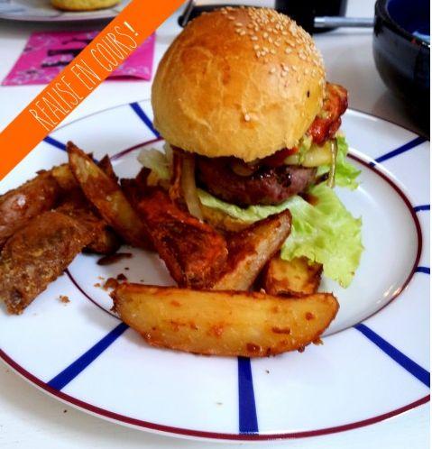 #Ollie #burger #potatoes #steak #hamburger #ketchup #chipotle #aubergine #basilic #barbecue #bbq #recette l Follow Sophie's Store on Pinterest