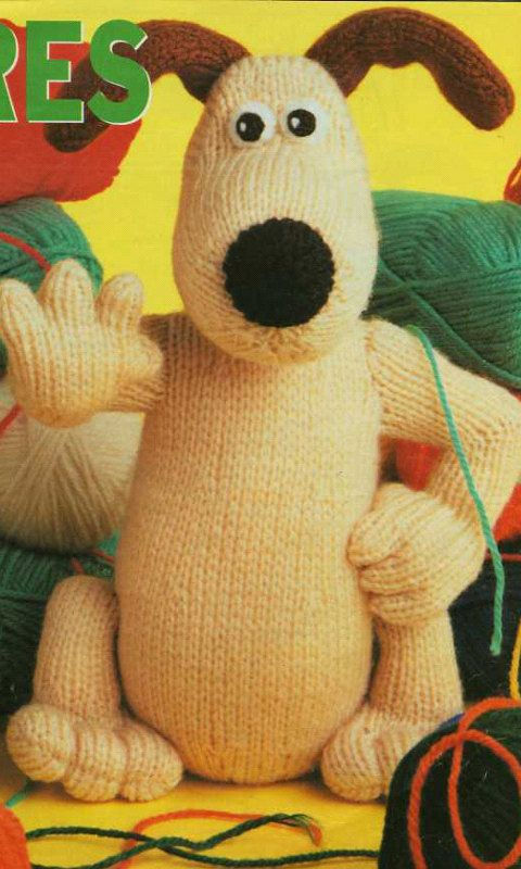 Gromit Knitting Pattern and Shaun the Sheep Knitting Pattern  PDF instant download.  from Wallace and Gromit. knitting pattern by EdithCrafts on Etsy