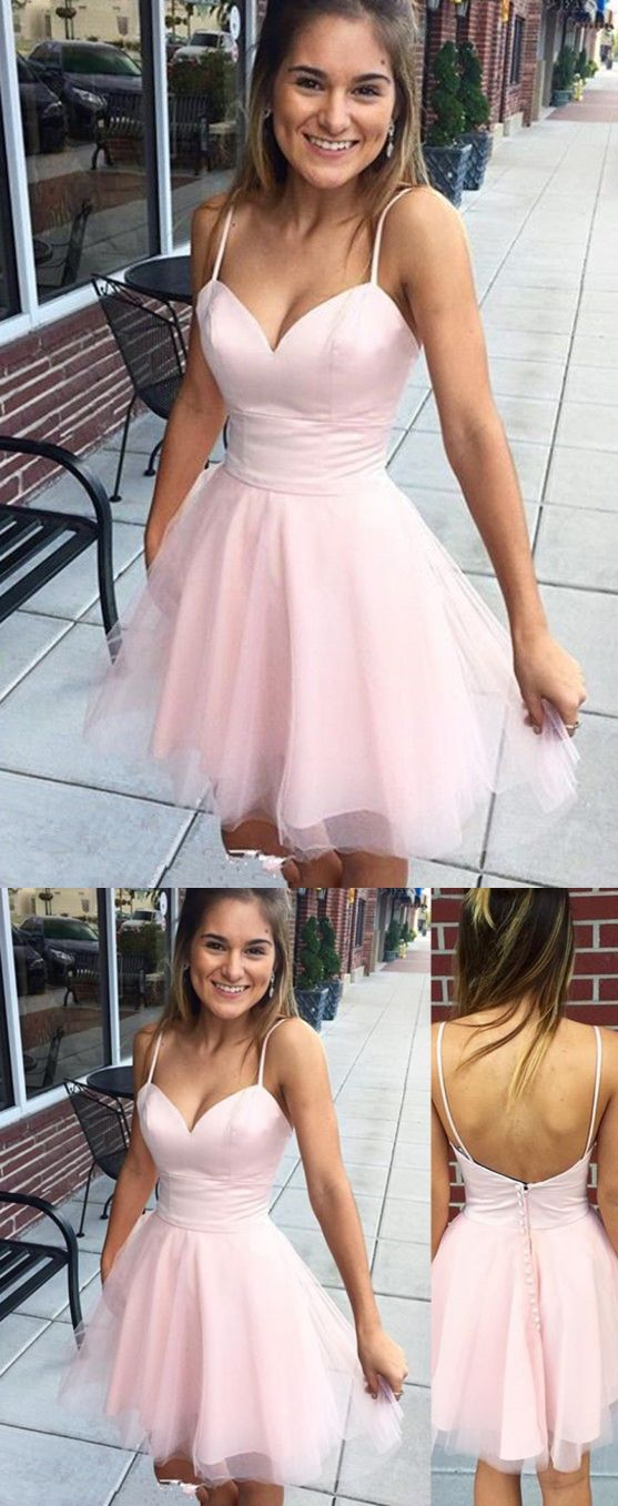 Pearl Pink Dresses,Homecoming Dresses 2017,Cocktail Dresses,Tight Homecoming Dresses,Short Homecoming Dresses,Tulle Dresses