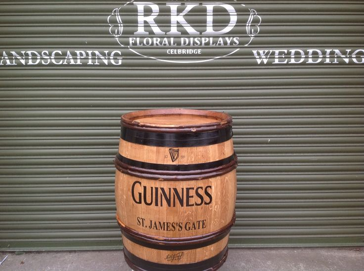 Guinness Wine Barrel By RKD Floral Displays