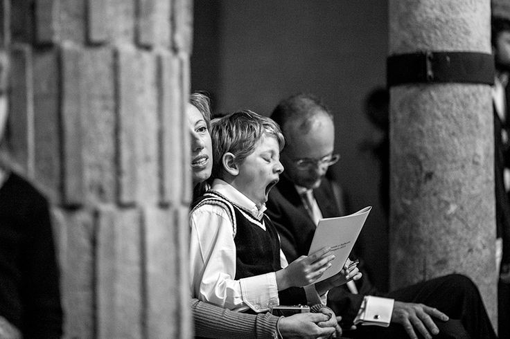 Lot's of emotions during the ceremony...maybe not for everyone!   wedding photography, photo documentary style.  Rome, Italy