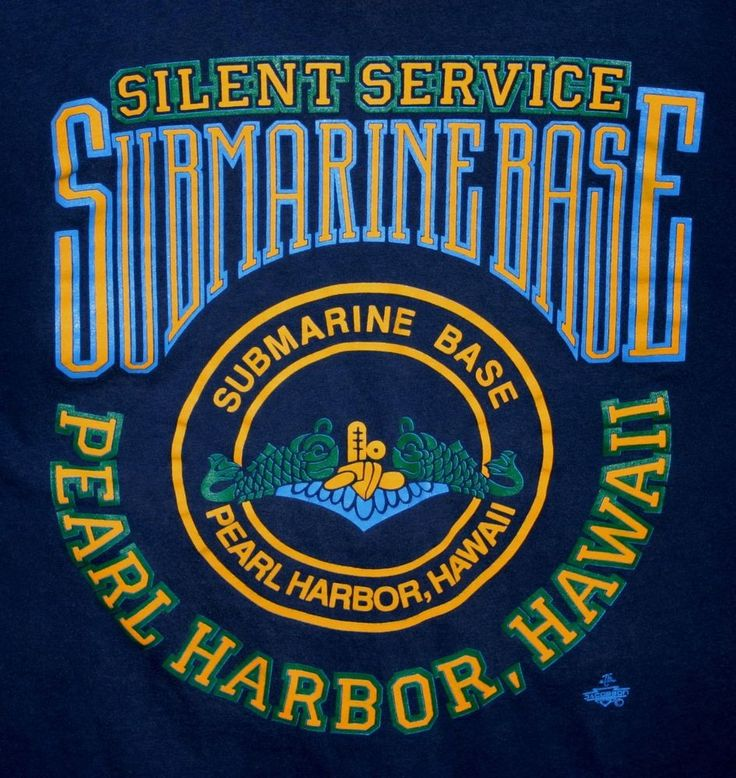 USN SUBMARINE BASE PEARL HARBOR T-SHIRT Men's L Made-In ...