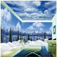 Custom Room Wallpaper Arctic Glacier Wolves Background Modern Europe Art Mural for Living Room Large Painting Home Decor