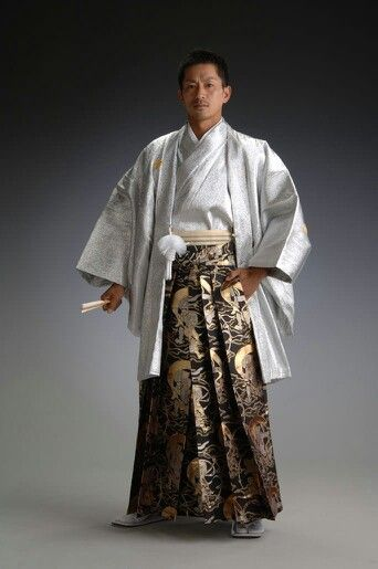 Hakama. Japanese costume for man