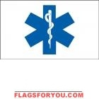 3' x 5' Star Of Life US Made, High Wind Flag